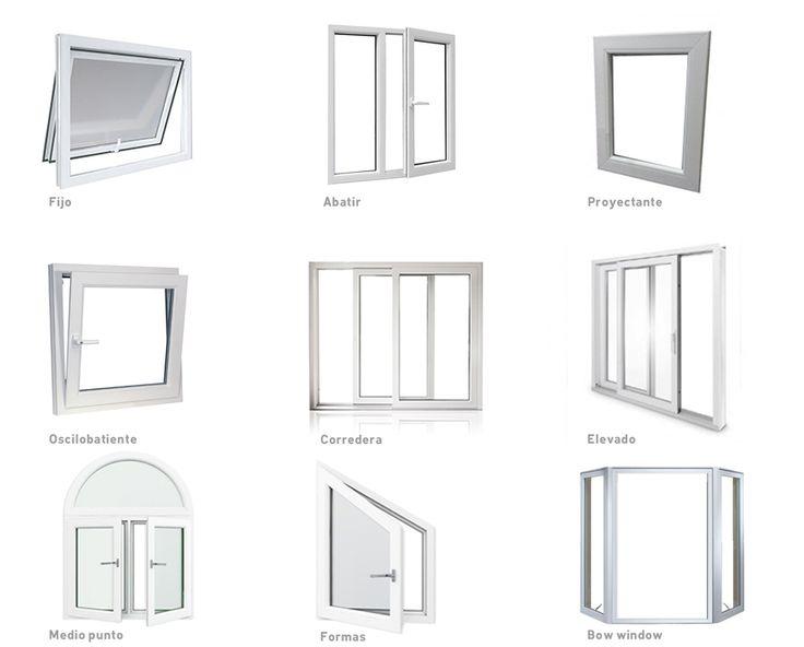 Metales ardales tipos de ventanas fijos abatibles for Tipos de ventanas de aluminio para banos